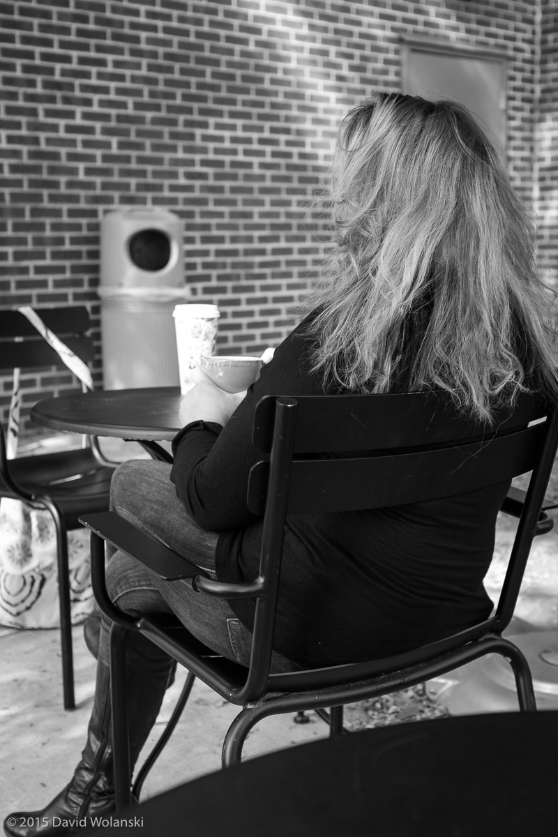 anonymous lady at coffee shop